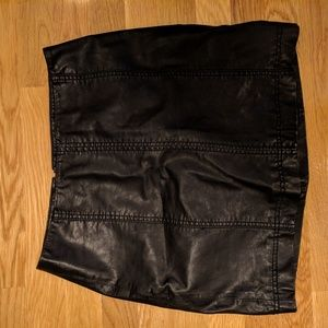Free People Faux (Vegan) Leather Skirt